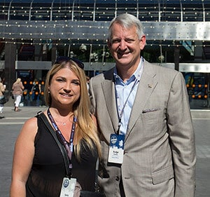 Ilaria Insardi (Coldwell Banker Italy) e Budge Huskey (President and Chief Executive Office at Coldwell Banker Real Estate, LLC) generation blue 2014 - ilaria presidenteCB - Coldwell Banker Generation Blue 2014